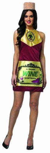 Wine And Cheese Halloween Costume (Rasta Imposta Women's Wine Dress, Multi,)