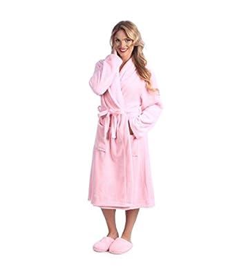 Buyers Corner Women's Plush Bathrobe and Slipper Set