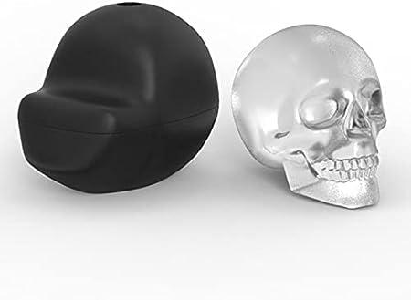 Bandeja para Moldes de Cubitos de Hielo 3D Skull, Moldes de Silicona Reutilizables para Whisky con Embudo, Máquina de Cubitos de Hielo Adecuada para Bebidas Frías, Cócteles, Bebidas, Sin BPA