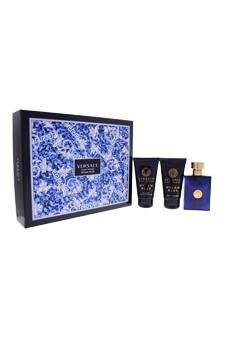 Versace 3 Piece Dylan Blue Eau de Toilette Spray Gift Set for Men