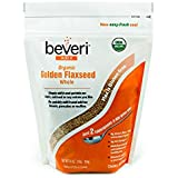Beveri Nutrition Organic Whole Golden Flaxseed, 1 Pound