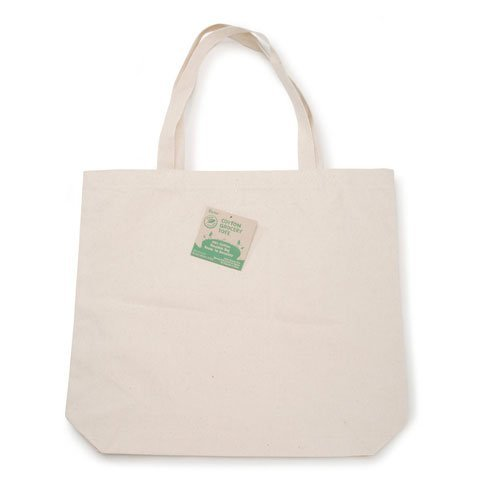 Bulk Buy: Darice DIY Crafts Eco Grocery Tote 100% Cotton 17.5 x 15.5 x 4 inches (10-Pack) 1180-51