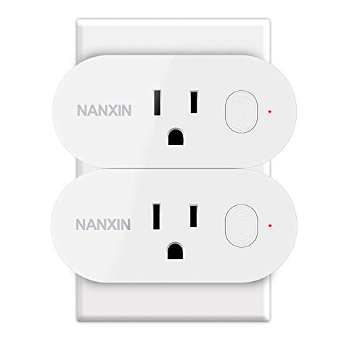 Wifi Smart Plug,Loneyshow Mini Smart Socket Work with Alexa/Echo dot Voice Control Timing Function Energy Monitoring No Hub Required Control Your Home from Anywhere for iOS Android Tablets(2 pack)