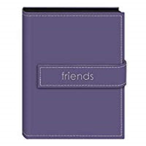 Pioneer Photo Albums EXP-46/LF Pioneer Embroidered Magnetic Strap Sewn Leatherette Cover Mini Photo Album,