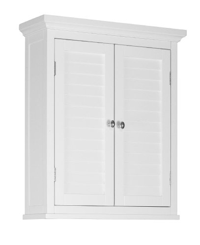 Elegant Home Fashions Adriana Wall Cabinet with 2-Shutter Door by Elegant Home Fashions