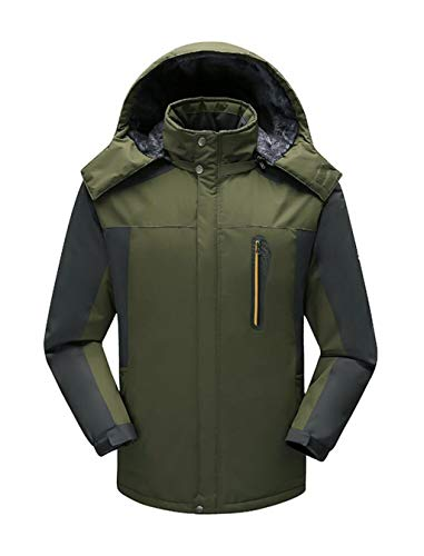 and warm winter Windproof Jacket Fleece Waterproof Green Ski outdoor Autumn Men's jacket wxSgY7qCn