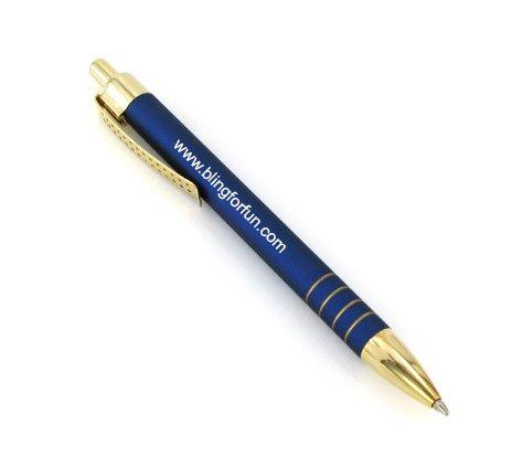 Laser Engraved Metal Pen FREE ENGRAVING. (Blue) (4) (Laser Engraving Metal Pen)