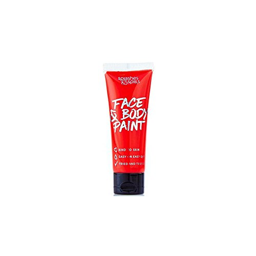 Splashes & Spills Halloween Make Up Fancy Dress Face & Body Paint - Red 30ml ()