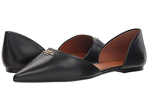 Coach Women's Leather Pointy Toe Flat Black 10 M US