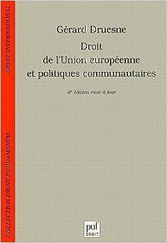 Droit de l'Union européenne et politiques communautaires epub pdf