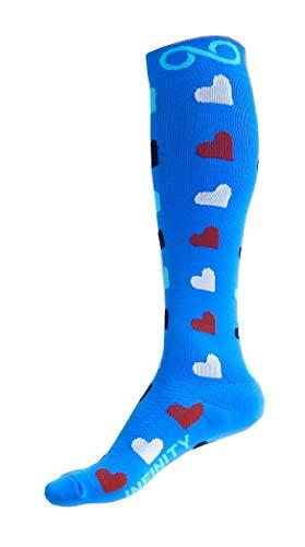 Infinity Compression Socks (1 Pair) (Ocean Hearts, S/M)