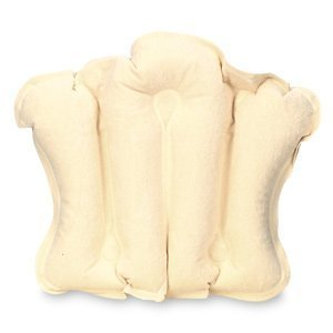 Earth Therapeutics Terry Covered Bath Pillow, Natural 1 - Terry Earth Covered Therapeutics Pillow Bath