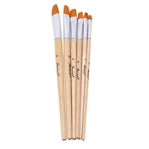 KLUMA 筆 ブラシ 絵画 画材 絵の具 油絵筆 水彩筆 アクリル筆 画筆 水彩筆 6本セット
