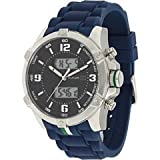 Tommy Hilfiger Ana-digi Silicone Navy Dial Men's watch #1790784, Watch Central