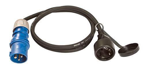 31dGJmkE20L ViD® 2x Adapterleitung CEE Stecker Kupplung 230V Camping H07RN-F 3x2,5mm² 16A 1,5m