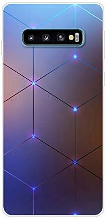 Aksuo for Samsung Galaxy S10 H/ülle Silikon 4D Stereo Raum TPU Silikonh/ülle Handyh/ülle Kratzfest Durchsichtige Stylisch Muster Design Robust Leicht Case