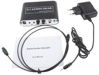 3.5mm Jack Output DTS 5.1 Audio Gear Digital Sound Decoder Black AC3