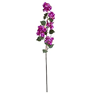 "Nearly Natural 2273-S4-PP 47"" Bougainvillea Artificial (Set of 4) Silk Flowers Purple 35"