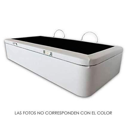 Ventadecolchones - Canapé Apertura Lateral Gran Capacidad Modelo Serena tapizado en Polipiel Negro Medidas 90 x 190 cm: Amazon.es: Hogar