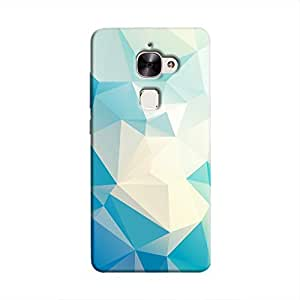 Cover It Up - Light Blue Pixel White Triangles LeEco Le 2 Hard Case