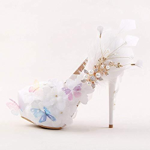 14cm Taille Mariée Chaussures Luxe White Uk Satin De En Heel coloré Hhgold 5 Heel w6qFF
