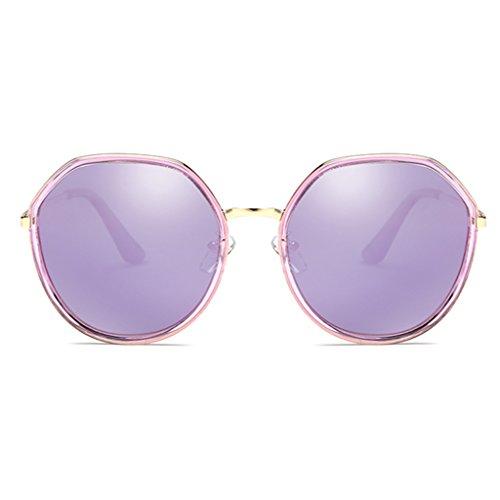 Purple éblouissement Résine de lentille Moolo Protection Grande polygonale de Soleil Soleil UV des Femmes Lunettes Anti de Irrégulière Lunettes Personnalité Polarisée qFRfqOw