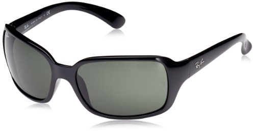 Ray-Ban RB4068 - BLACK Frame CRYSTAL GREEN Lenses 60mm - Lenses Polarized Ban Ray
