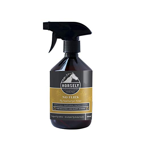 Horsely Fly Spray for Horses Natural Fly Repellent 500 ml | DEET Free | Alternative to Horses Fly Trap & Fly mask | Insect Repellent for Horses - Fly Free Spray Repellent