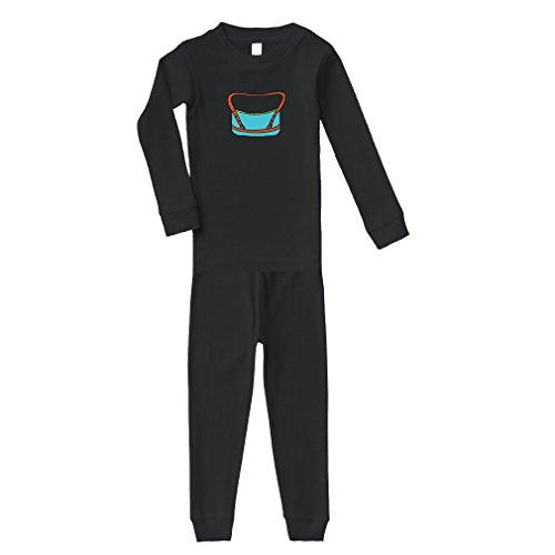 Cute Rascals Purse Blue Little Cotton Long Sleeve Crewneck Unisex Infant Sleepwear Pajama 2 Pcs Set Top and Pant - Black, 2T by Cute Rascals