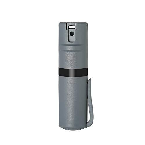 Oc Pepper Spray - POM Grey Pepper Spray Pocket Clip Model - Maximum Strength Self Defense OC Spray Safety Flip Top 10ft Range Running and Outdoors (Black)