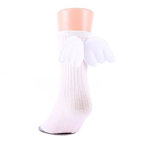 Little Angel Stocking - YOWOO 0-4 Years Toddler Child Breathable Cotton Socks with Angel Wing One Pair A Pack