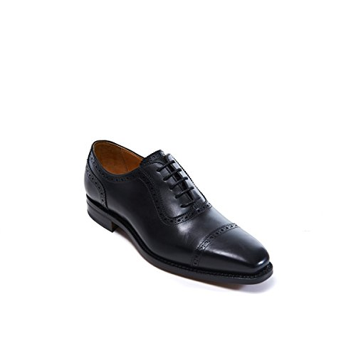 Toe Oxford Colore Francesina Nero Passport di Uomo Decorazione Stringata Black cap cap Toe con British Goodyear Scarpa qxYvgtwzxO