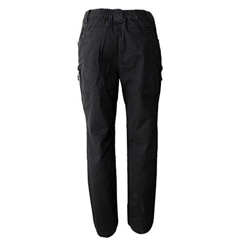 Pour Unie Base Plein Fermeture Éclair Randonnée Targogo Poches Avec De Air Trekking Couleur Pantalons À Décontractée Noir Hommes qInHwSaHC