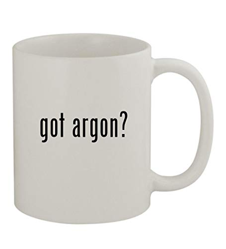 got argon? - 11oz Sturdy Ceramic Coffee Cup Mug, White