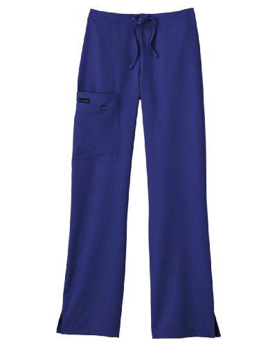 Jockey ladies front tied zipper scrub pant mid waist galaxy blue x-large tall