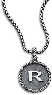 925 Sterling Silver Initial R Shaped Pendant