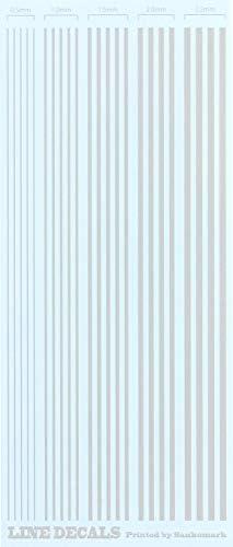 [スポンサー プロダクト]サンコーマーク工業 レプトジーダ ラインデカール ライトグレー 9×21cm G−24