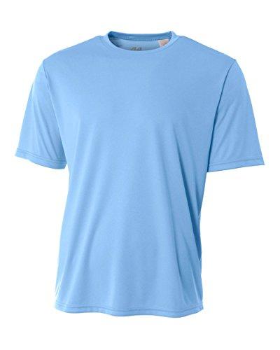 shirt De Homme Refroidissement Performance Clair Rond Pour Bleu Col A4 T 5q8R4