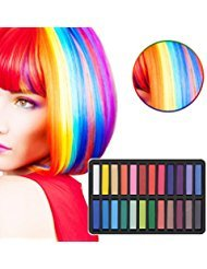 Ameauty Non-Toxic Temporary Washable Hair Chalk Set for Party, Cosplay...