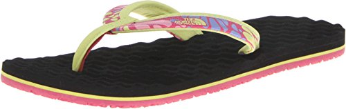 The North Face Kids Girl's Base Camp Mini (Toddler/Little Kid/Big Kid) Society Pink Butterfly/Exotic Green Sandal 12 Little Kid M - North Face Mini Base