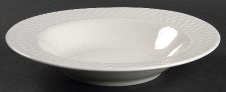 Rimmed Soup Bowl - Basketweave Pattern by Oneida