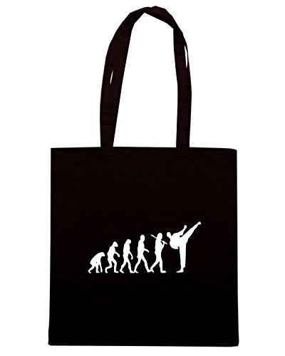 T-Shirtshock - Bolsa para la compra TAM0034 evolution karate dark tshirt Negro