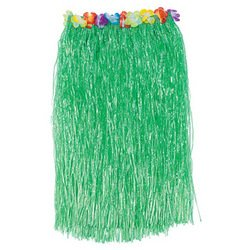 1 X Adult HULA SKIRT with HIBISCUS Flower TRIM/34