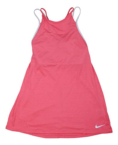 Nike Dry Women's Layered Athletic Tank Top (Sea Coral / Pure Platinum, ()