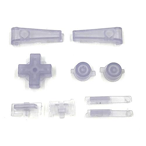 Left Right Key L R A B D-pad Button Replacement Part for Gameboy Micro GBM Console Light Clear Blue