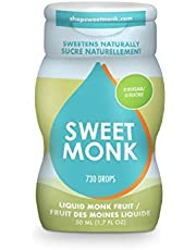 SweetMonk - Pure All Natural Liquid Monk Fruit Extract Sweetener. Zero Calorie, Liquid Sugar Substitute