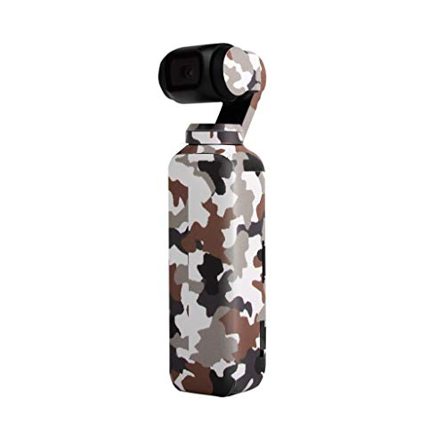 (Sunshinehomely Fashionable Doodle Camouflage PVC Decal Skin Sticker Protective Cover for DJI OSMO Pocket Gimbal (F))