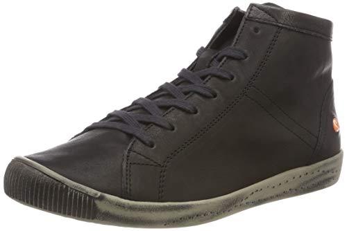 Donna Smooth 059 A Collo Nero Isleen Leather Alto Softinos black Sneaker 0xPqCx5