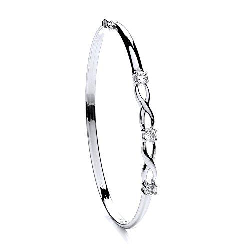 9ct or blanc CZ Bracelet 4,2g