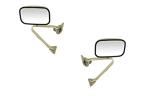 1987-1991 Ford Bronco & Pickup Truck F100, F150, F250, F350 Manual Chrome Folding Universal Swing Lock Type (Door Mount) Rear View Mirror Pair Set: Left Driver AND Right Passenger Side (1987 87 1988 88 1989 89 1990 90 1991 91) (1990 90 Ford F150 Pickup)